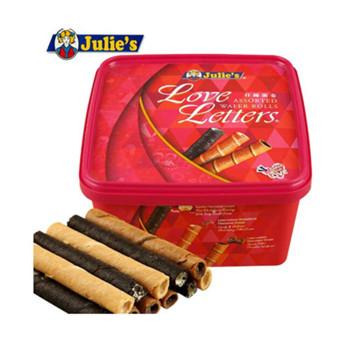 茱蒂丝Julies什锦蛋卷饼干 马来西亚进口休闲零食糕点 多口味蛋卷360g