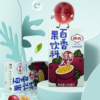 摩奇百香果饮料250ml*24盒