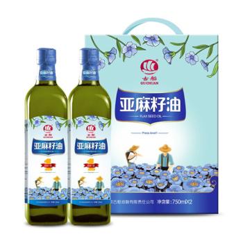 古船亚麻籽油750ml*2