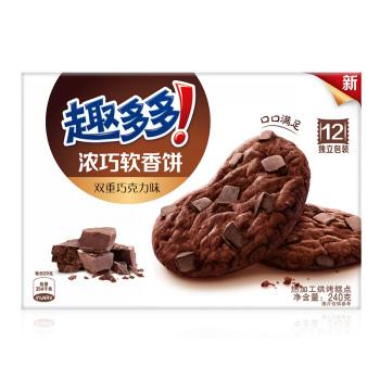 趣多多浓巧软香饼双重巧克力味 240g