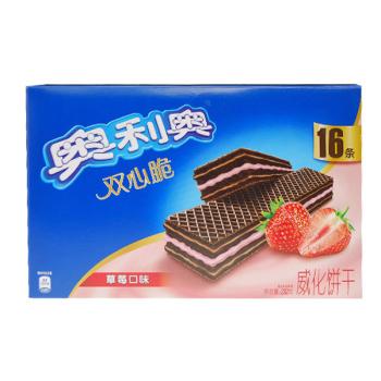 卡夫奥利奥草莓双心脆威化232g