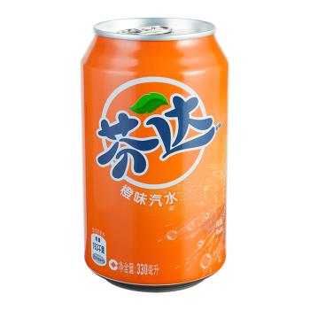 芬达橙味汽水330ml*6