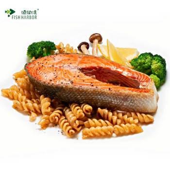 【渔泊湾】阿拉斯加红鲑鱼扒454g 整条切片冷冻野生三文鱼中段