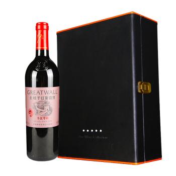 华夏长城新年份2004 干红葡萄酒 礼盒装(750ml*2瓶)